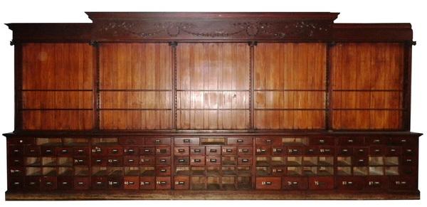 19th c.mahogany apothecary cabinet, 224
