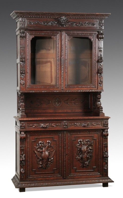 19th c. French carved oak buffet, 96