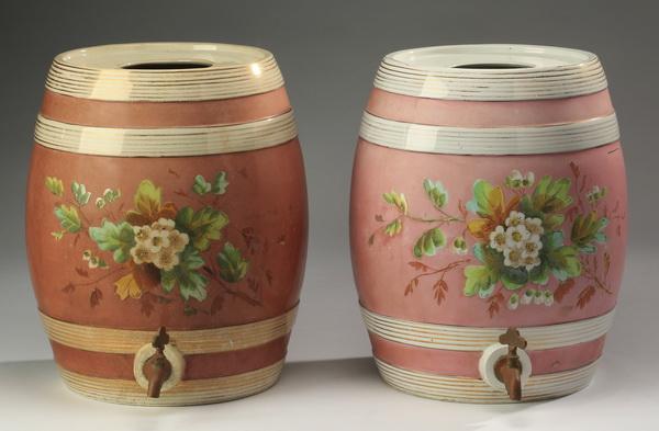 (2) 19th c. English spirit barrels 14.5