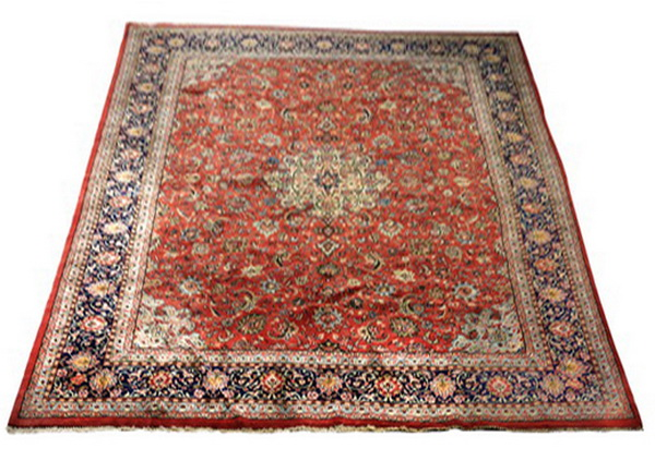 Hand knotted Sino-Isfahan wool rug, 14 x 10