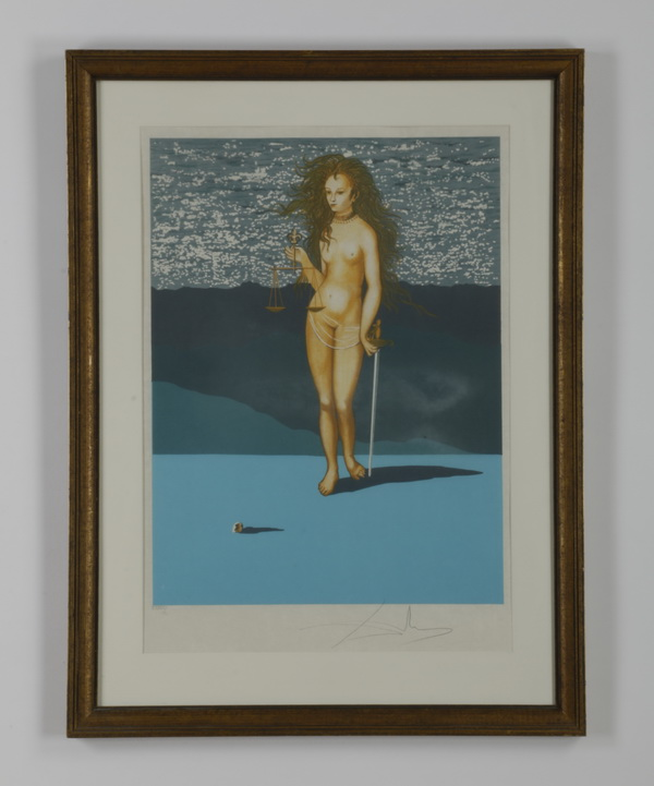 Salvador Dali signed, numbered litho, 36