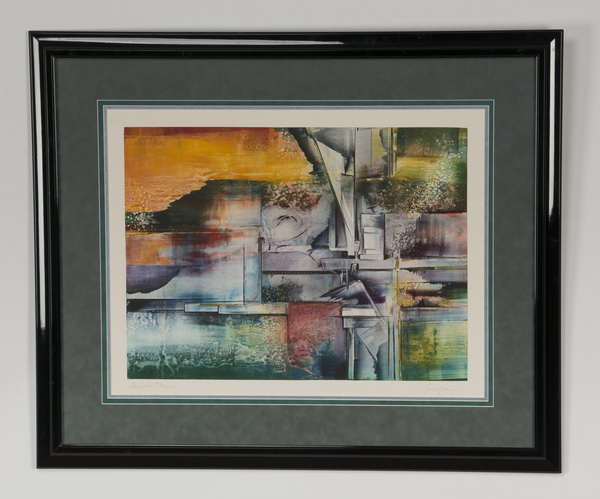 Gail Perazzini signed lithograph, 'Invisible Cities'