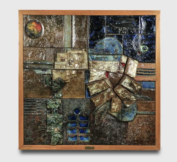 Contemporary Spanish glazed tile artwork, 42