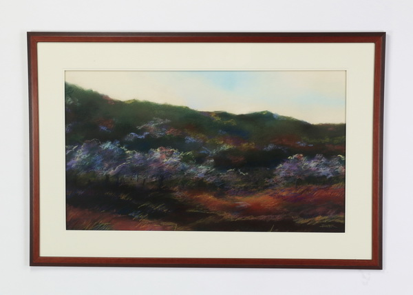 R. John Ichter pastel on paper, signed, 51