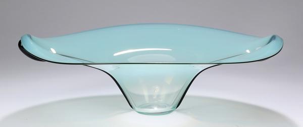 Contemporary art glass center bowl, 15.5