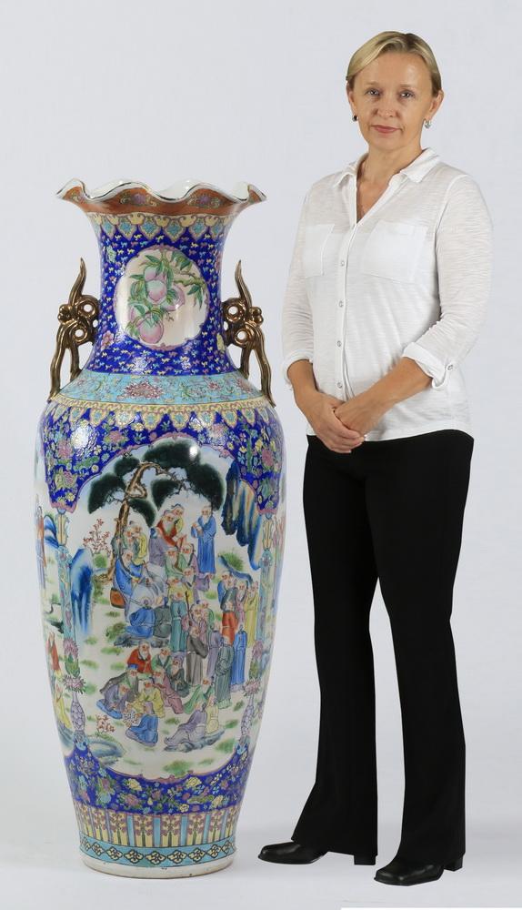Chinese porcelain baluster floor vase, 54