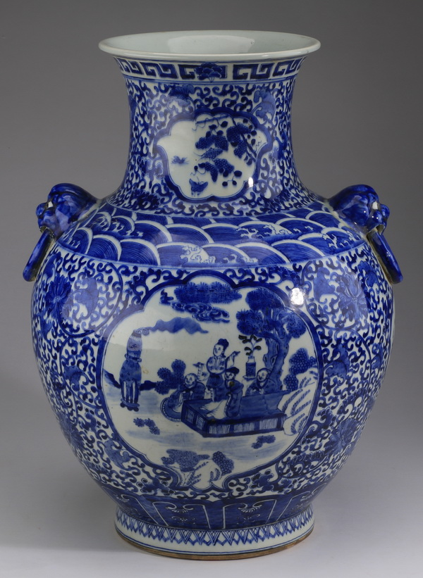 Chinese baluster vase, Qianlong mark, 18