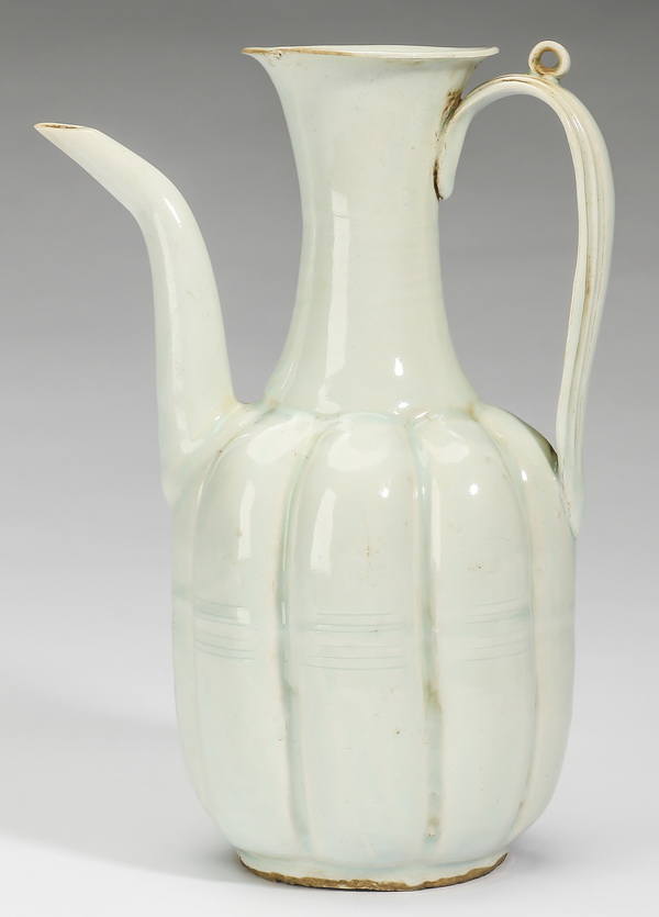 Chinese qingbai celadon ewer in the Song style, 8