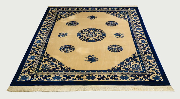 Chinese Peking style hand knotted wool rug, 9 x 12