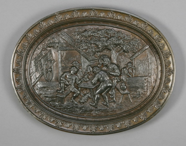 19th c. German cast iron plaque