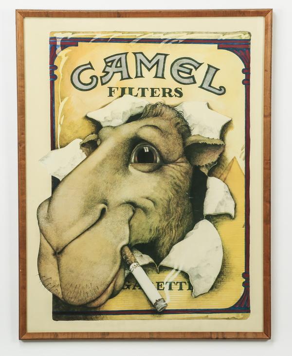 Vintage advertising poster for Camel cigarettes