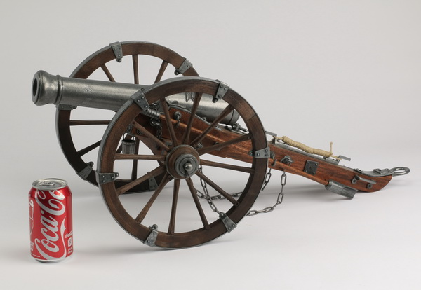 Tabletop model of a field artillery canon, 28