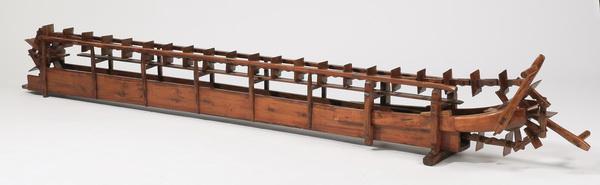Carved wood model irrigation system, 111