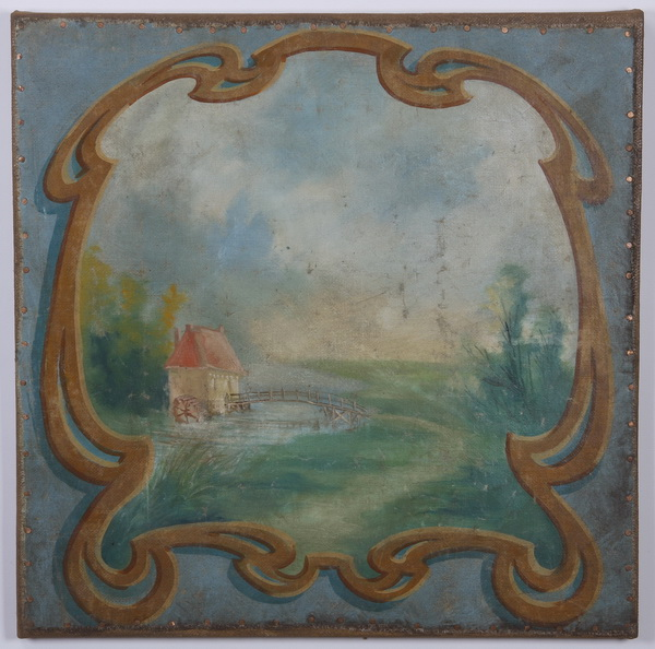 (2) Early 20th c. oil on canvas landscapes