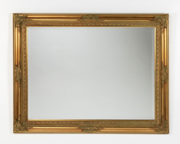 Italian gilded beveled mirror, 48