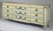 Mid 20th c. paint decorated chest, 79