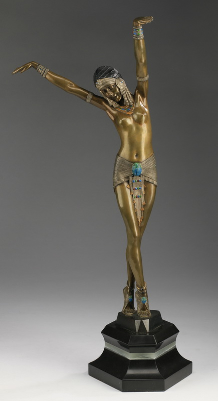 After Chiparus, bronze of 'Egyptian Dancer', 20