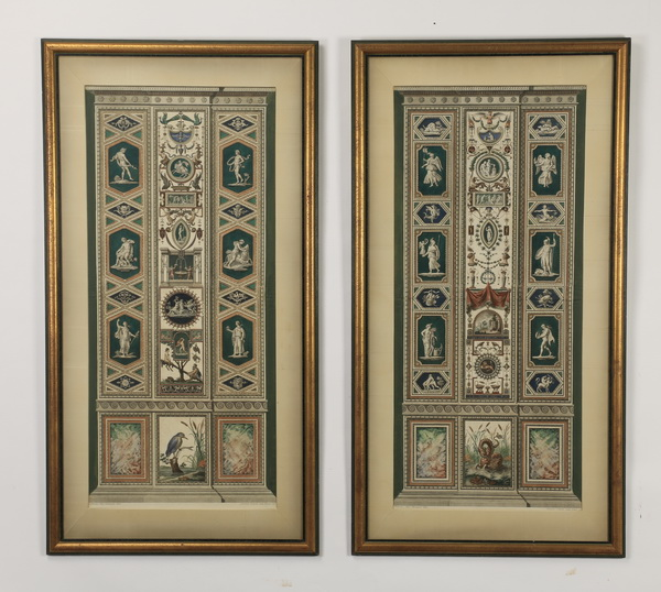 (2) 18th c. Italian hand colored engravings, 49