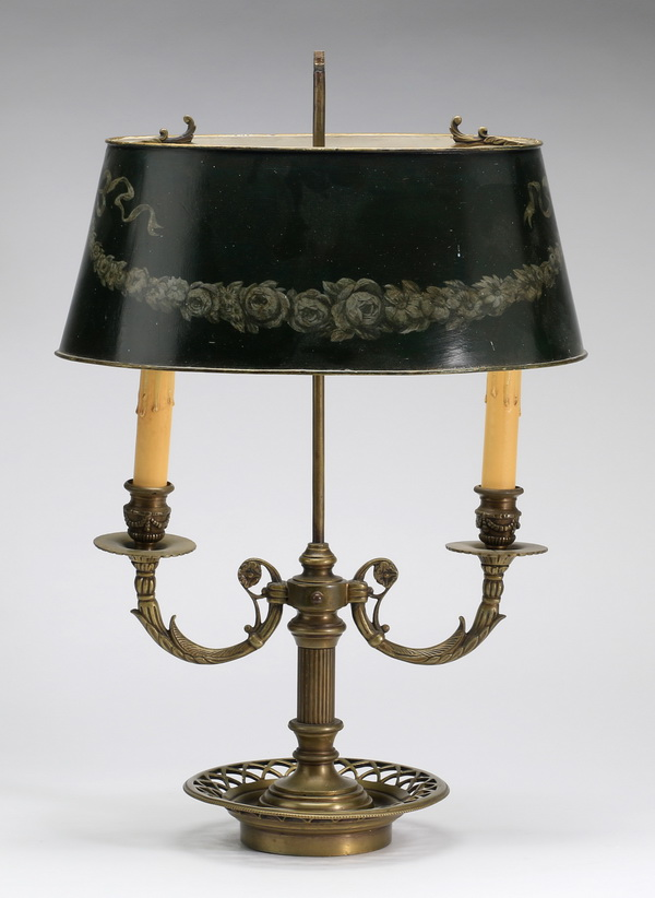 French bouilotte lamp, 17