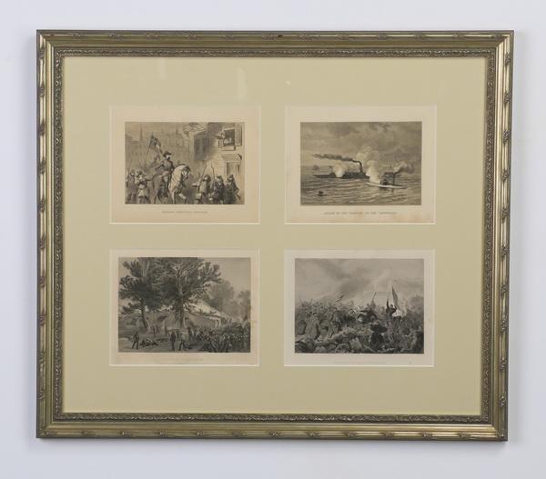Framed etchings of Civil War scenes, 27