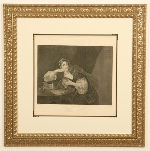 18th c. framed engraving, 'Sigismonda', 31
