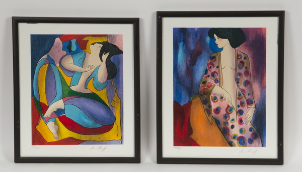 (2) Linda Le Kinff serigraphs, each signed & numbered