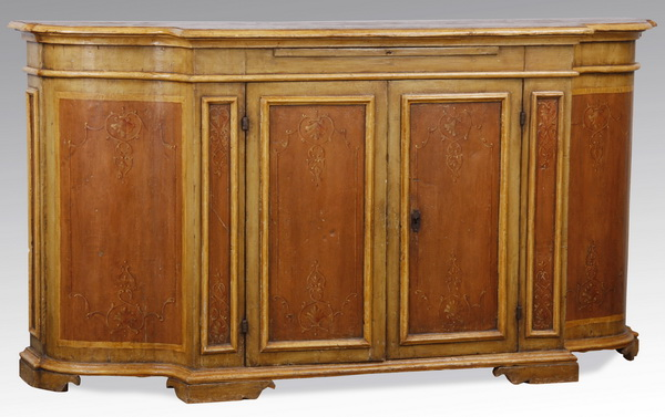 19th c. Continental paint decorated buffet