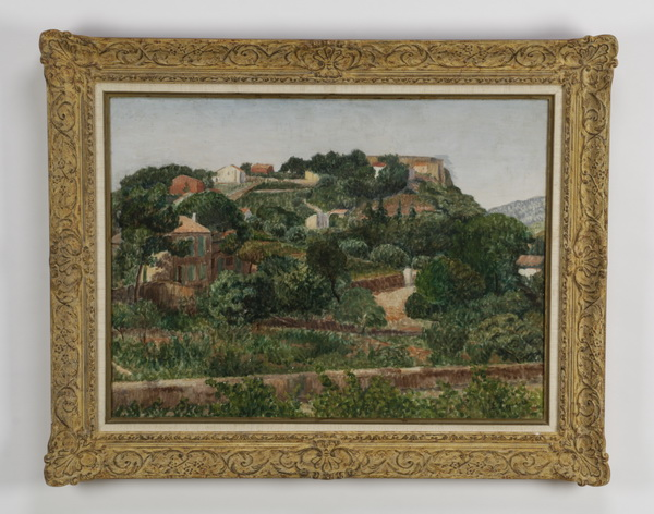 Ernest Eggeren signed O/c of Provence, early 20th c.