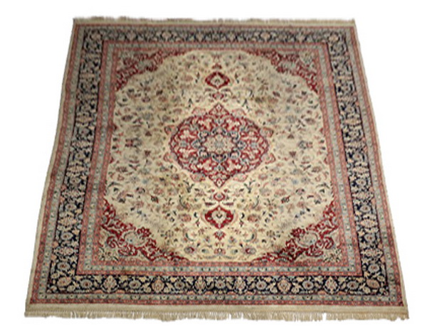 Hand-knotted Sino-Isfahan wool rug, 12 x 9