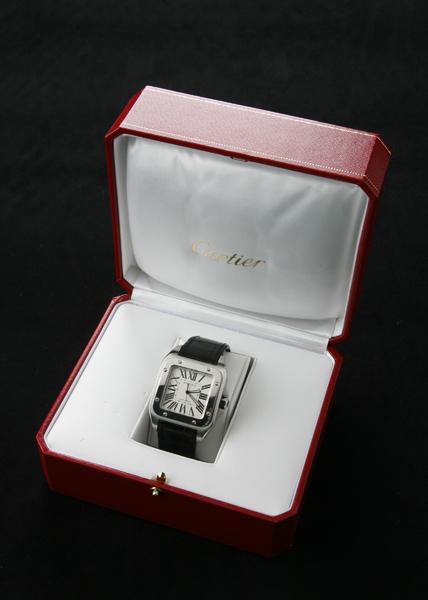 Cartier Santos 100 stainless watch