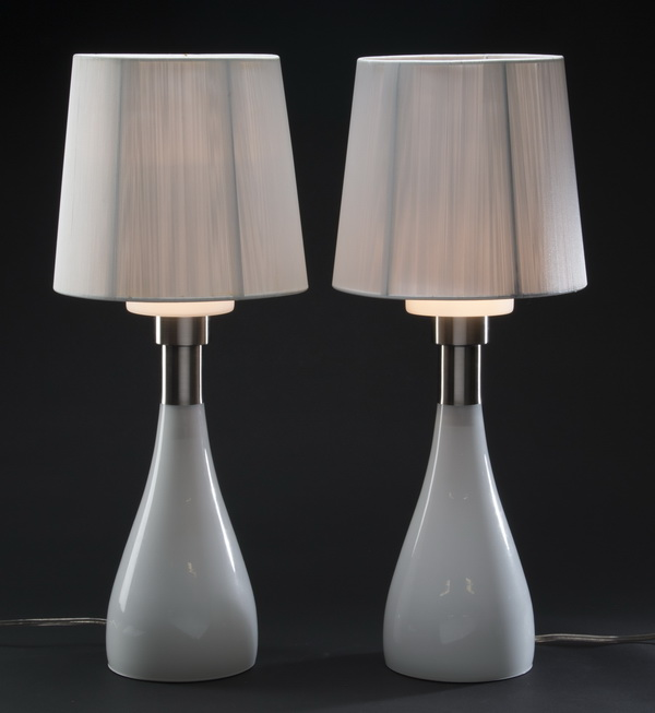 (2) Contemporary Italian glass table lamps