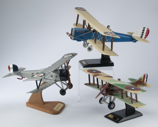 (3) WWII era aviation models including a Spad XIII