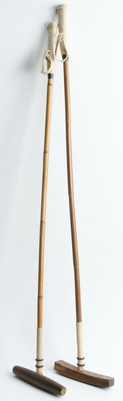 (2) English polo mallets by J. Salter & Son, 20th c.