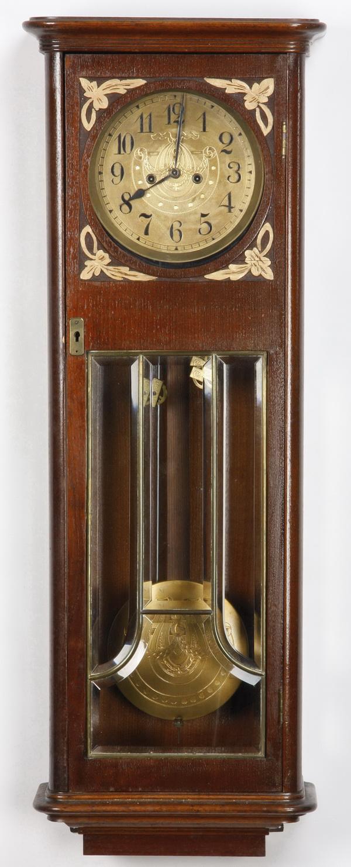 19th c. Art Nouveau Vienna regulator clock, 35