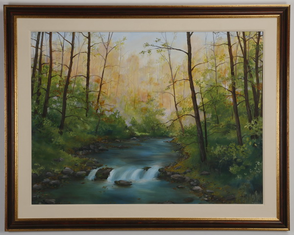 Carey Watson signed, O/c, forest scene, 59