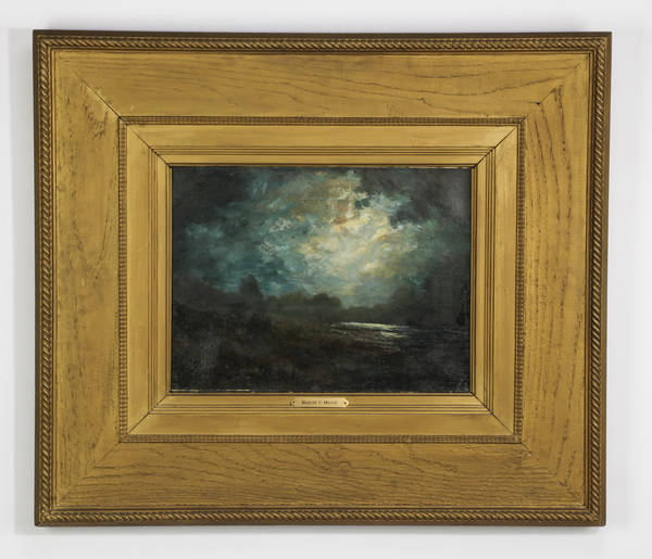 Robert Crannell Minor O/c, 'Moonlit Clouds,' 19th c.