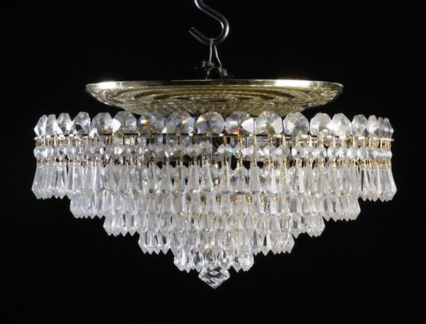 Schonbek 4-light crystal ceiling fixture, 15