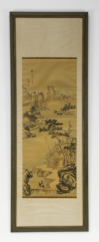 20th c. Chinese ink on paper of mountain landscape