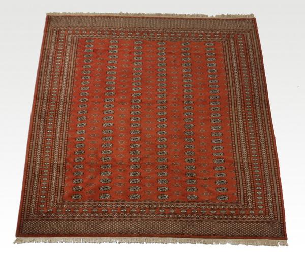 Hand knotted Pakistani Bokhara wool carpet, 9 x 12