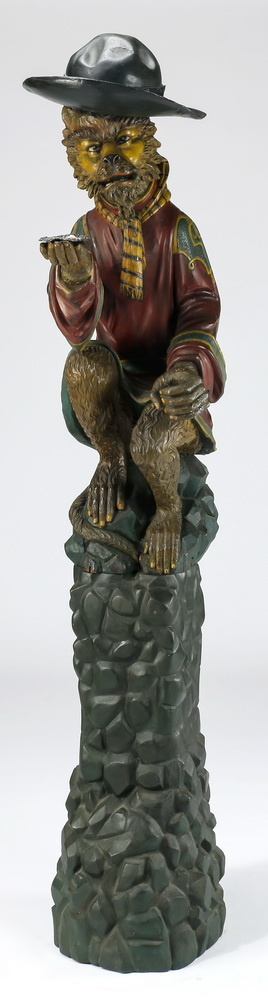 Carved, parcel gilt monkey butler, c. 1920, 73