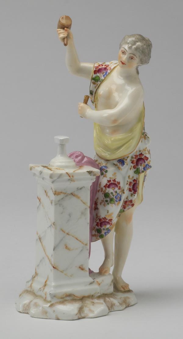 19th c. Samson figurine, marked, 9