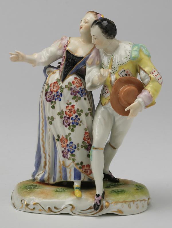 19th c. Volkstedt figurine, marked, 6