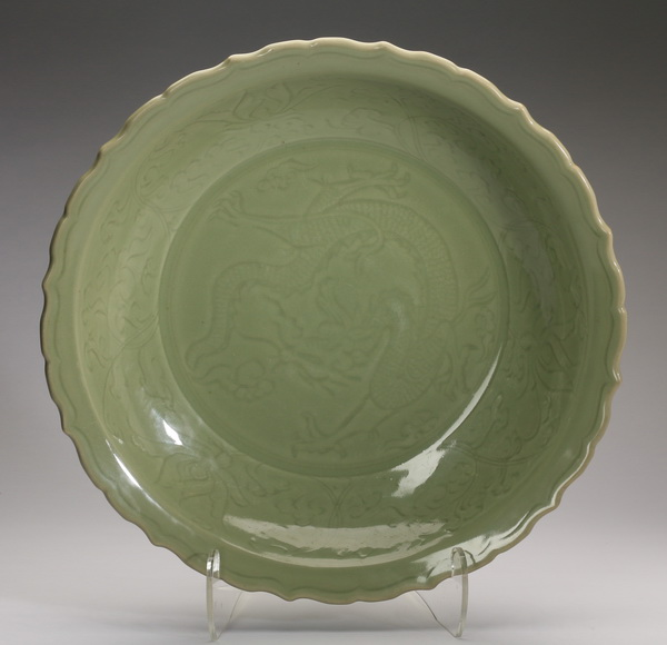 Chinese Longquan celadon charger, 19