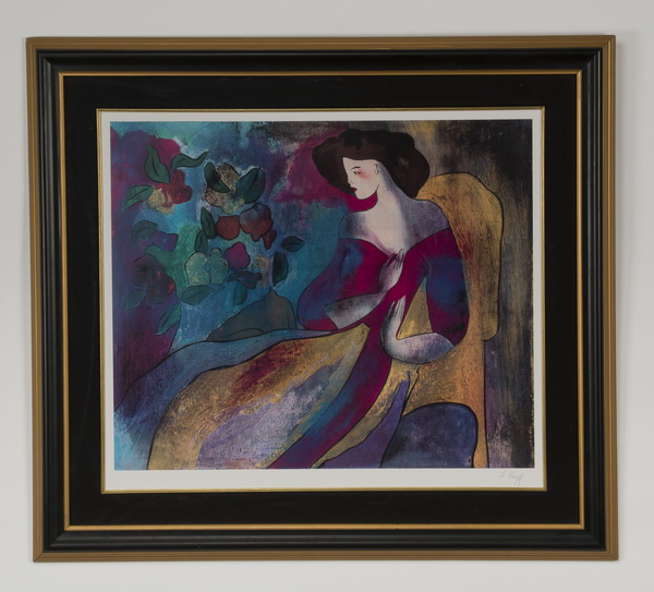 Linda Le Kinff signed serigraph, 'Annabelle'