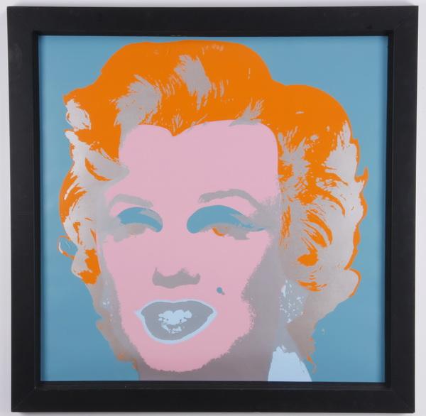 Marilyn Monroe screenprint, after Warhol, 43