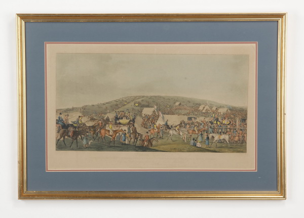 Early to mid 19th c. hand colored engraving