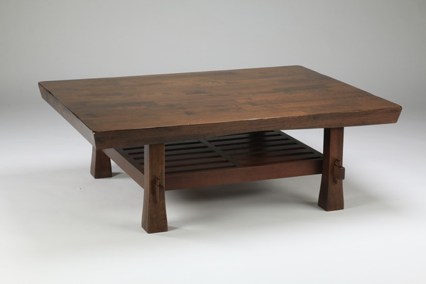 Japonesque wood cocktail table, 49