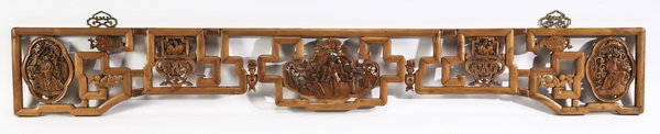 Pierced and carved Chinese overdoor, 78