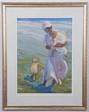 20th c. signed lithograph