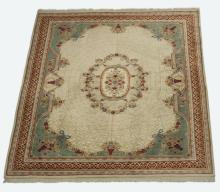 Hand-knotted French style wool rug 12' x 9'